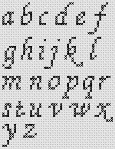Preview of Cross Stitch Patterns: A to Z Alphabet Sampler (Small Letter Cursive)