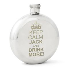 Personalised Keep Calm Round Hip Flask Personalised Hip Flask, Personalised Gifts For Him, Usher Gifts, 21st Birthday Gifts, Get The Party Started, Father Of The Bride, Fathers Day Gifts, Man Gifts, Bride Gifts