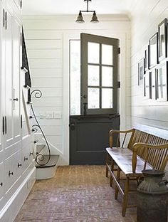 Dutch door in entryway
