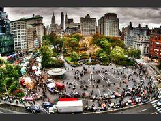 A New York, le marché de Union Square, à Manhattan, est un rendez-vous prisé des habitants de la « Big Apple » (Etats-Unis).