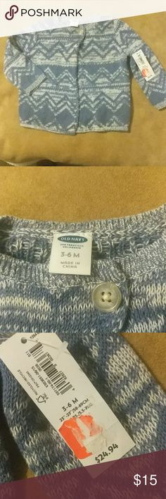 Old Navy 3-6 Month Cape Brand New, Old Navy, Blue and White, 1-Button, still with tags on, Cape. 100% Cotton. Soft material. Stain-free, Smoke-Free, Pet-Free Home. Well taken care of clothing. Old Navy Jackets & Coats Capes