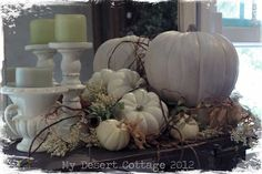 Fall Decor and Becky's first Blissful Whites Wednesday!!!