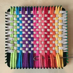 Potholder loom weaving Let's Weave Again – Revisiting the Potholder Loom – My Material Life Weaving Loom Diy, Loom Craft, Hand Weaving, Rug Loom, Crochet Birds, Crochet Flower Patterns, Crochet Animals, Crochet Toys, Crocheted Flowers