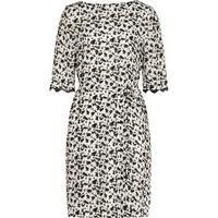 REISS Noemie - Womens Printed Dress in Cream