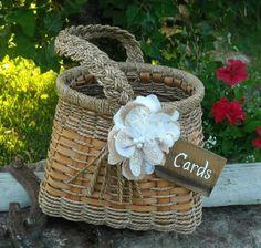 Wedding Card Holder - Rustic Wedding Card Holder - Basket Card Holder. Would do slightly different