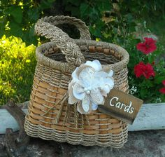 Wedding Card Holder - Rustic Wedding Card Holder - Basket Card Holder. Would do slightly different