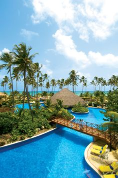 The main pool at Dreams Punta Cana resort in the Dominican Republic