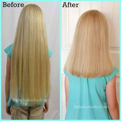 Hair Cut & Donation from BabesInHairland.com