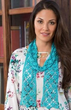 """Free pattern for """"Lacy Crystals Scarf""""!"""