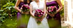 Dahlias, fiddlehead, roses, callas, and many more beautiful flowers make these unique bouquets. photo courtesy: Union Photographers.  Designed by Flowers by Antonella