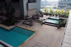 Huge pool at Doubletree by Hilton, Kuala Lumpur...and almost nobody there too :)