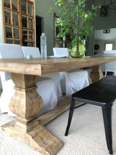 Outdoor Farmhouse Table, Barnwood Dining Table, Country Dining Tables, French Dining Tables, Farmhouse Dining Room Table, Trestle Dining Tables, Dining Table In Kitchen, Chunky Dining Table, Farm Style Dining Table