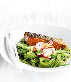Tea-Smoked Salmon and Soba Noodle Salad recipe | Food | In Season | MiNDFOOD