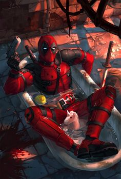 deadpool wade wilson marvel swords masks bloody violence burnt avengers x force Deadpool Pikachu, Deadpool Art, Deadpool Funny, Deadpool And Spiderman, Deadpool Quotes, Deadpool Tattoo, Deadpool Costume, Deadpool Movie, Bd Comics