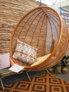 "Rattan swing chair. BBC Boracay says: "" The Philippines create wonderful rattan and bamboo furnitures. Start your search on the Island of Cebu.."""