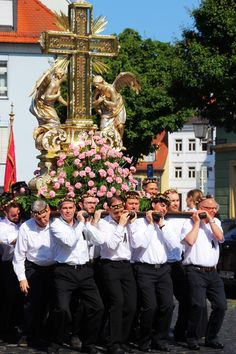 Fronleichnamsprozession (Procession Corpus Christi) in Bamberg, Germany