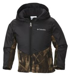 Columbia Steens Mt Overlay Hooded Jacket for Babies or Toddlers - 4T - Timberwolf