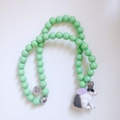 Pirates& Ponies Mint Bunny Necklace