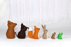 Shop for fox on Etsy, the place to express your creativity through the buying and selling of handmade and vintage goods. Yarn Crafts, Felt Crafts, Fabric Crafts, Diy And Crafts, Felt Animal Patterns, Stuffed Animal Patterns, Fabric Toys, Fabric Yarn, Natural Toys