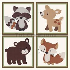 Spring Forest Animal Woodland Friends Kids Bedroom Baby Nursery Wood Bookends Be0009 Animals Forests And Babies