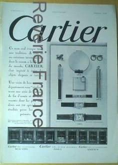 Original French Vintage Poster Ad Cartier Jewelry 1931 Paris by reveriefrance on Etsy