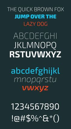 Exo 2 Font Letters and Numbers