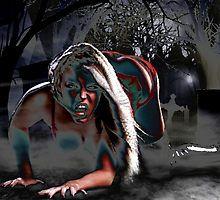 Sexy Halloween Vampire girl non nude fantasy world by hmdesigns
