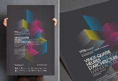 Vingt-Quatre heures d'architecture - Poster Design by Les produits de l'épicerie