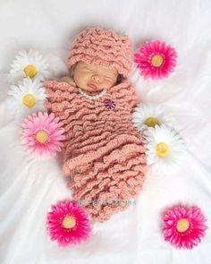 Crochet~ Baby Hat & Cocoon