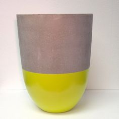 Small lime lightweight cement planter