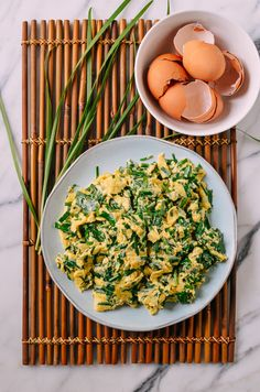 #Chinese #Chives & #Eggs recipe by thewoksoflife.com