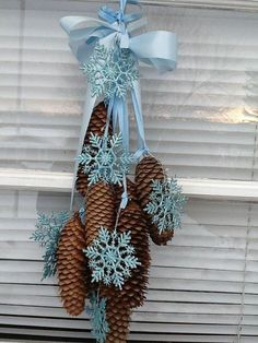 I just need cones - snowflakes and ribbon are not a problem.