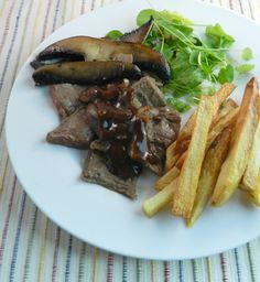 Pan Seared Veal Skirt Steak, Quebec Style