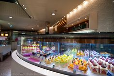 Dessert display at Takano Fruit Parlour in Tokyo Japan by Melody Fury Photography. Food, Drink, Restaurant Photographer and Writer in Vancouver BC and Austin TX