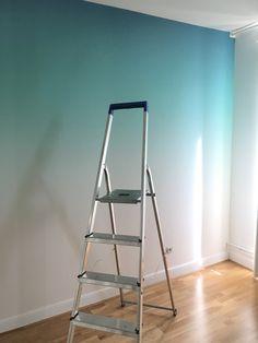 Bedroom Wall Designs, Bedroom Wall Colors, Room Design Bedroom, Home Room Design, Room Colors, Home Decor Bedroom, Creative Wall Painting, Creative Wall Decor, Wall Painting Decor