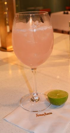 You had me at margarita punch!...Christmas margarita punch recipe from Neiman Marcus.