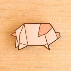 origami piggy pin