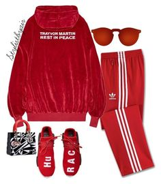 """Untitled #7211"" by stylistbyair ❤ liked on Polyvore featuring adidas and Illesteva"