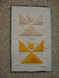 simple angel quilt blocks - make in paper - 6-9 per card?