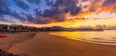 Playa Las Americas, Tenerife, Islas Canarias //, Beach Playa Las Americas, Tenerife, Canary Islands // Strand Playa Las Americas, Teneriffa, Kanarische Inseln #VisitTenerife Tenerife, Canario, England, Celestial, Sunset, Beach, Water, Outdoor, Canary Islands