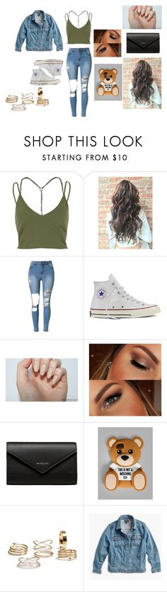 """""""Lost In Stereo"""" by little-lost-girl ❤ liked on Polyvore featuring River Island, Converse, Urban Decay, Balenciaga, Moschino, Lucky Brand and plus size clothing"""