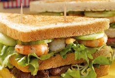 Sandwich mit Garnelen und frischem Salat #goldentoast