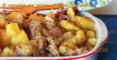 Capretto al forno con patate, l'immancabile, inconfondibile e saporito, secondo di carne da portare in tavola per il pranzo di Pasqua.