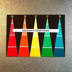 #simonsaysstamp #versafine #tsukineko #bazzill #christmas #christmastree #holiday #avivasvision #paintchips #paintchipart #cardsofinstagram #handmadecards
