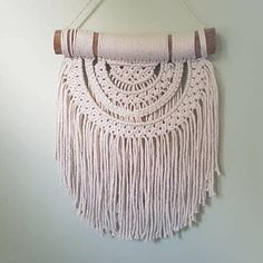 Macrame Wall Hanging/Wood/Cotton Rope/Home Decor/Wall