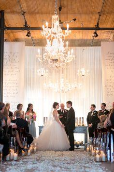 Elegant, Rustic Summer Warehouse Wedding at Historic Pritzlaff: http://www.stylemepretty.com/wisconsin-weddings/milwaukee/2014/08/26/elegant-rustic-summer-warehouse-wedding-at-historic-pritzlaff/   Photography: Heather Cook Elliott - http://heathercookelliott.com/