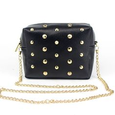 4.05$  Watch now - http://ali1xj.shopchina.info/go.php?t=32787629161 - Crossbody Bags for Women Shoulder Bag Rivet Chains Small Mini PU Leather Mobile Phone Trunk Messenger Bags  LT88  #bestbuy