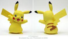 Bilderesultat for pikachu fondant cake Bolo Pikachu, Pikachu Cake, Fondant Figures, Pokemon Torte, Pokemon Birthday Cake, Fondant Animals, Fondant Tutorial, Sugar Art, Cacao