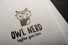 Owl Nerd by It's a Small World on @creativemarket