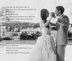 First Dance photo with words Elvis Presley Only by redbarncanvas
